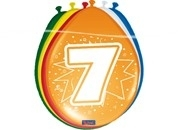 Ballonnen 7 jaar (assorti kleuren)
