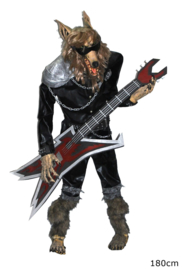 Standing Wolf muzikant deco deluxe