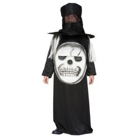Skelet met hoed jongens kostuum