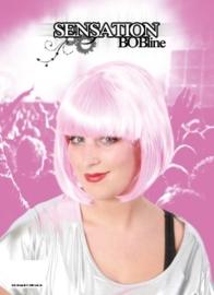 Bobline pruik roze