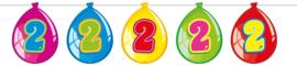 Vlaggenlijn ballonnen 2 jaar