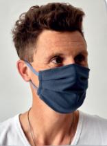 Mondkapje donkergrijs wasbaar | 50x Herbruikbare mondmaskers