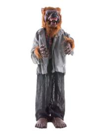 Staande wolf 90 cm met licht, geluid en beweging