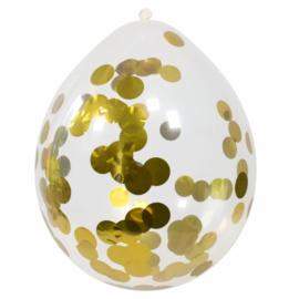 Confetti ballonnen goud 4 stuks