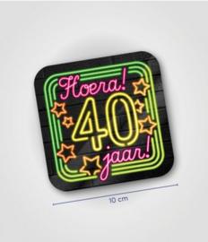 Neon onderzetters 40 jaar