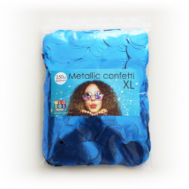 Confetti metallic rond 23mm 250 gram blauw