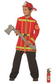Stoere brandweer jas rood