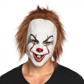Latex hoofdmasker Killer clown | IT clown