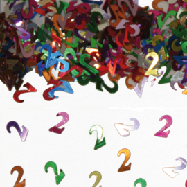 Tafeldecoratie / sier confetti 2 jaar