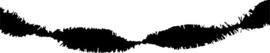 Crepe guirlande - slinger zwart