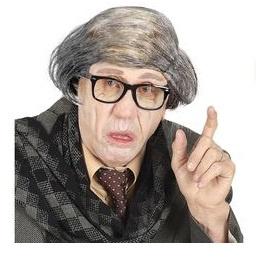 Kale kop oude man met laatste haar