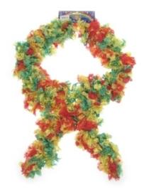 Stoffen Boa sjawl rood/geel/groen