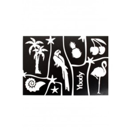 A5 stencil Tropical Y body