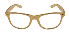 Moderne bril goud