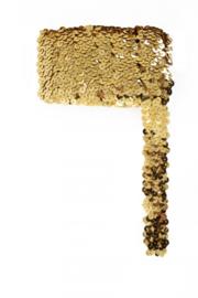 Paillettenband breed elastisch goud 3m