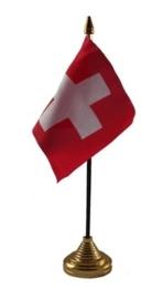 Tafelvlag Zwitserland zwart