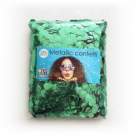 Confetti metallic rond 10mm 250 gram groen