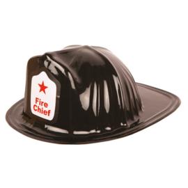 Kinder brandweerhelm zwart