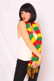 Sjaal rood, geel en groen