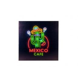 MEXICO CAFE LICHTBORD 25 LEDS 40X40X2.8CM