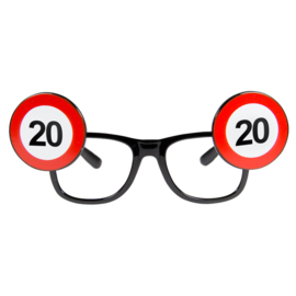 Bril 20 jaar verkeersbord