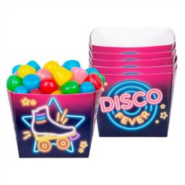 Set 6 Papieren bakjes 'Disco fever'