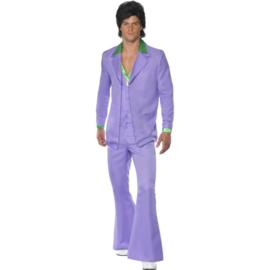 Disco 70's  kostuum paars