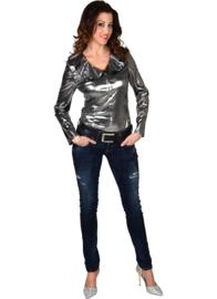 Dames blouse zilver