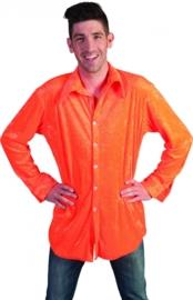 Neon oranje blouse