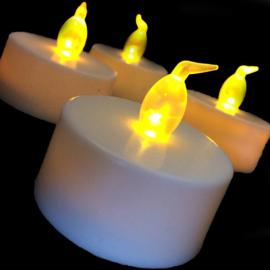 LED kaarsjes geel per 12