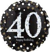 Folieballon birthday sparkling 40 (73cm)