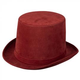 Hoge hoed steamtopper | rood
