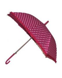 Paraplu dots 50's fuchsia