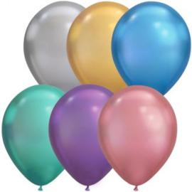 Ballonnen luxe chroom assortie 10 stuks
