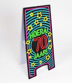 Waarschuwings bord Neon 70 jaar