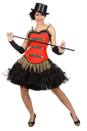 Circus corset rood