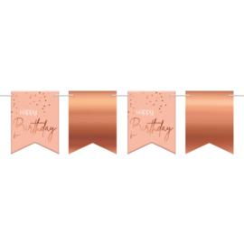 Vlaggenlijn Elegance lush blush Happy birthday