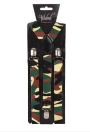 Bretels leger camouflage