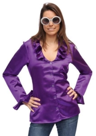 Disco blouse dames paars