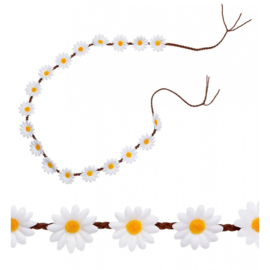 Ceintuur witte bloemen hoofdband