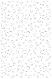 Witte loper met zilveren hartjes