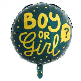 Folie ballon Boy or girl | 45cm