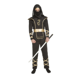 Ninja negro kostuum man