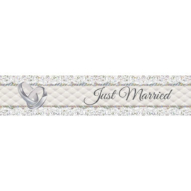 Foliebanner just married