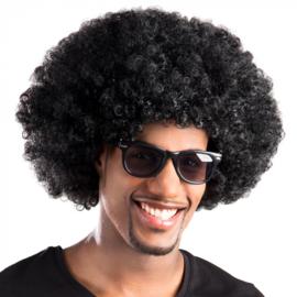 Mega Zwart afro pruik