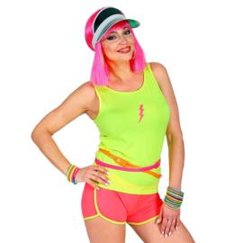 Tanktop neon geel vrouw