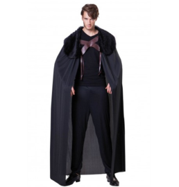 Black knight cape met bont