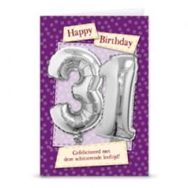 Leeftijd ballonnen kaart 31 jaar