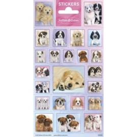 Sticker vel Softies & Cuties Puppies
