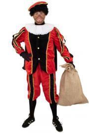 Piet plush zwart en rood